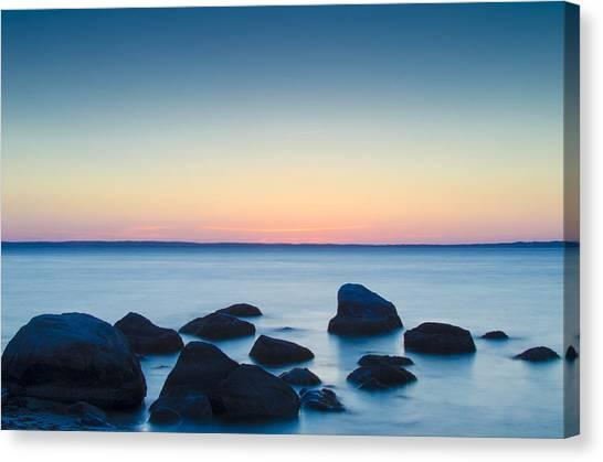 Cedar Tree Neck Sunrise Canvas Print