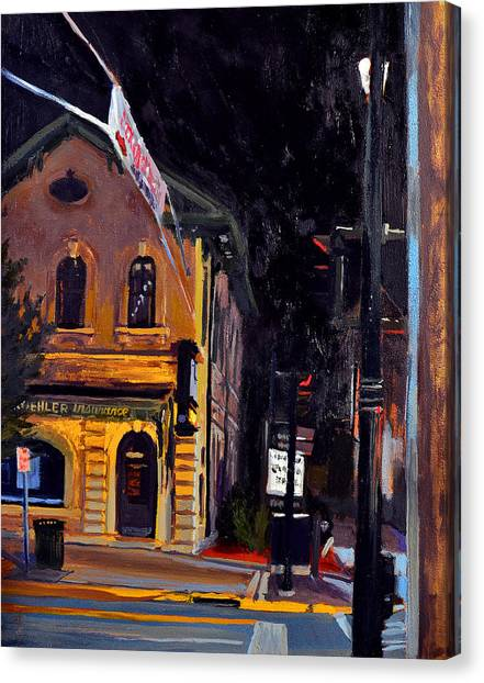 Midnite Canvas Print - Cedarburg Nocturne No.2 by Anthony Sell