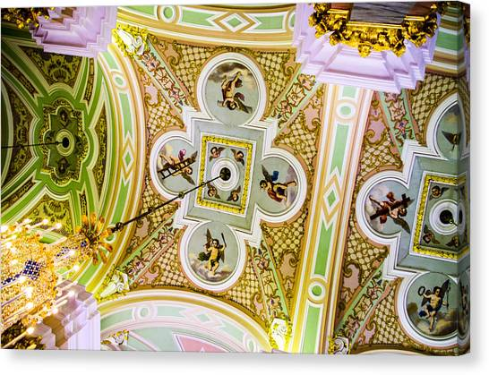 St John The Russian Canvas Print - Ceiling - Cathedral Of Saints Peter And Paul by Jon Berghoff