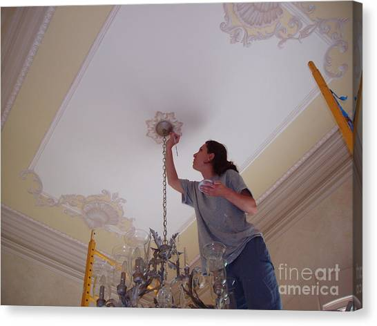 Ceiling Painting Canvas Print