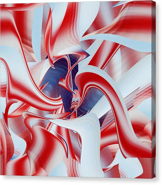 Canvas Print featuring the digital art Celebrate by rd Erickson