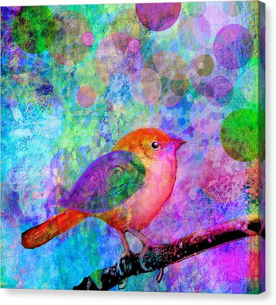 Digital Watercolor Canvas Print - Celebrate by Robin Mead