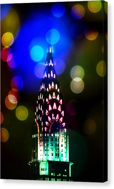 Chrysler Building Canvas Print - Celebrate The Night by Az Jackson