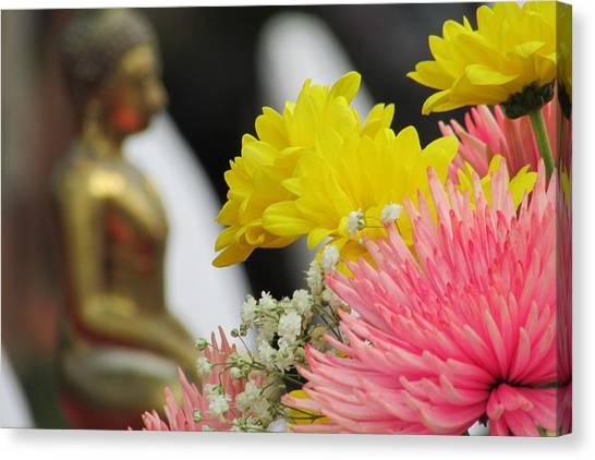 Celebrating The Thai New Year Canvas Print