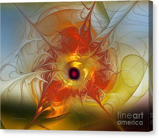 Lyrical Abstraction Canvas Print - Celebration For A Rising Star-abstract Fractal Art by Karin Kuhlmann