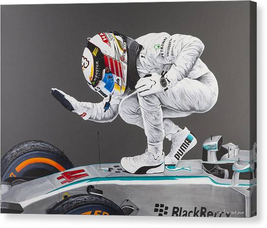 Formula 1 Canvas Print - Celebration by John Savage