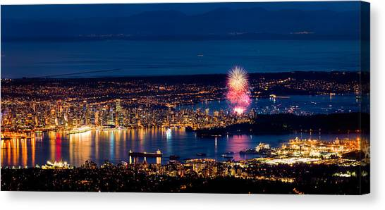 Vancouver Island Canvas Print - Celebration Of Light 2014 - Day 1 - Usa by Alexis Birkill