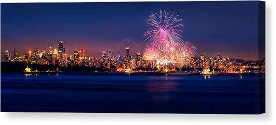 Vancouver Island Canvas Print - Celebration Of Light 2014 - Day 2 - France by Alexis Birkill