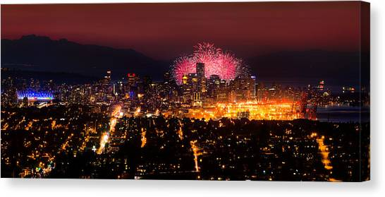 Vancouver Island Canvas Print - Celebration Of Light 2014 - Day 3 - Japan by Alexis Birkill