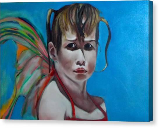 Celeste At Grand Beach Canvas Print