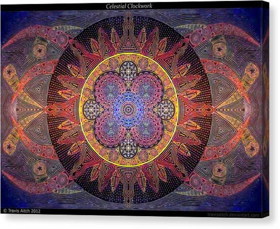 Celestial Clockwork Canvas Print by Travis Hunt