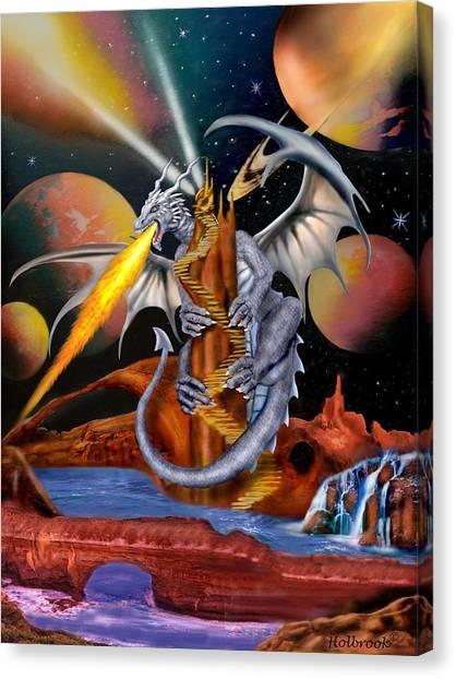 Celestian Dragon Canvas Print