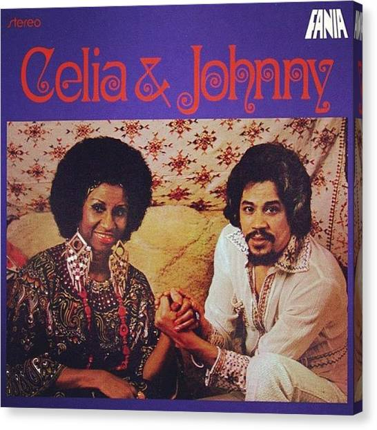 Salsa Canvas Print - Celia & Johnny // 1974 #salsaqueen by David S Chang