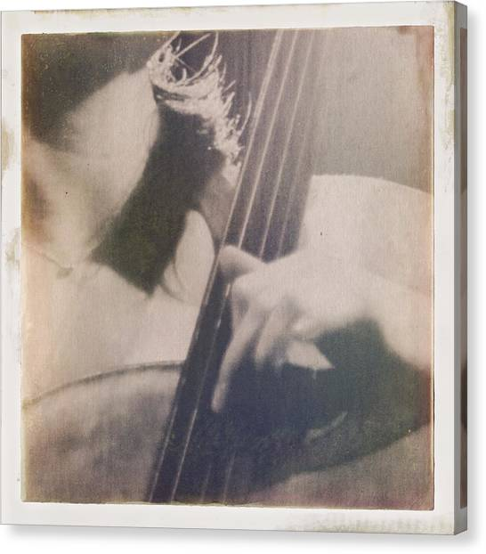 Cellos Canvas Print - Cello Player by H James Hoff