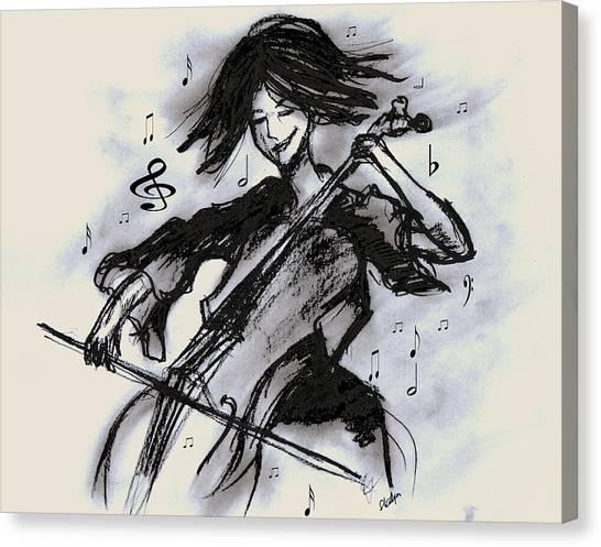 Cello Song Canvas Print