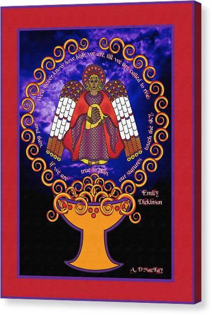 Celtic Angel Rising Canvas Print