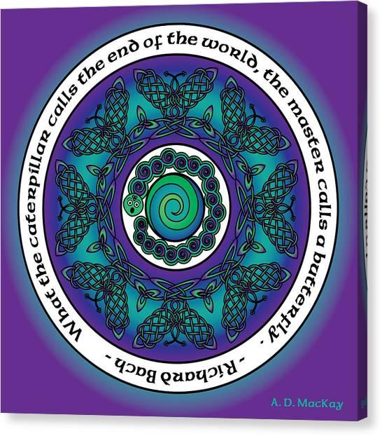 Celtic Butterfly Mandala Canvas Print
