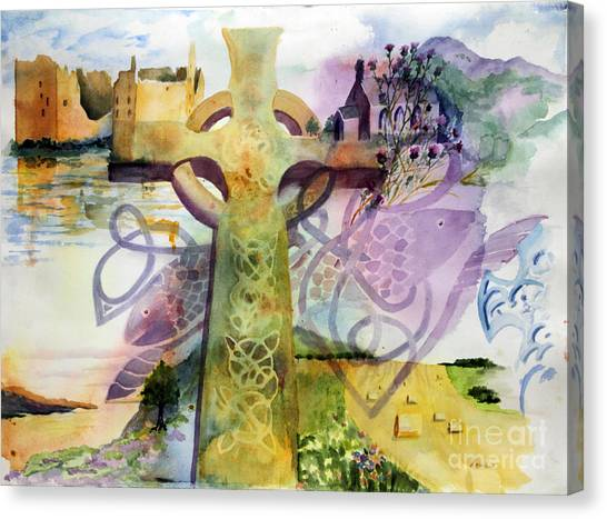 Heather Canvas Print - Celtic Memories by Maria Hunt