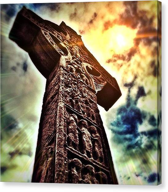 Ireland Canvas Print - Celtic Cross by Phil Tomlinson