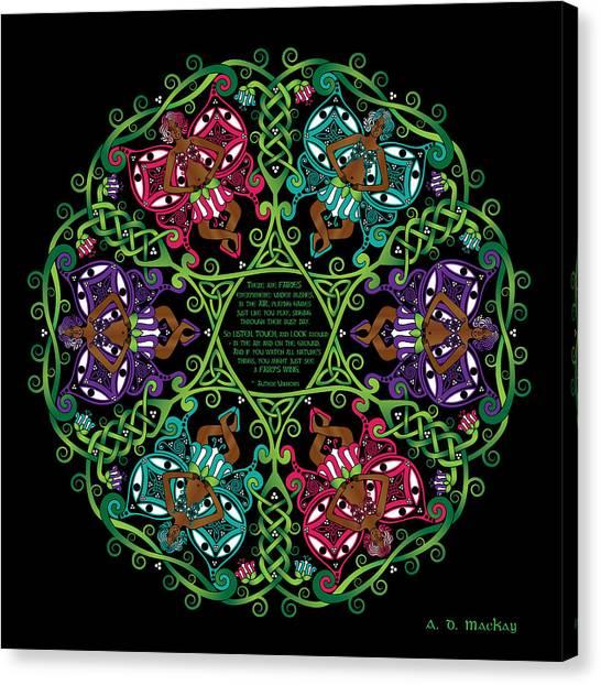 Celtic Fairy Mandala Canvas Print