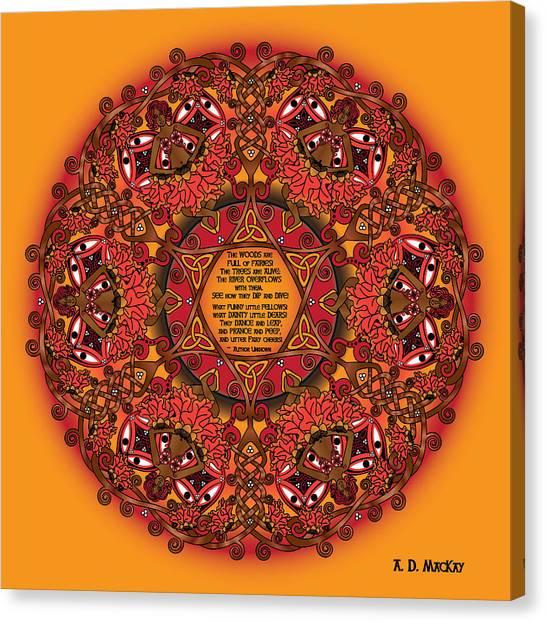 Celtic Fall Fairy Mandala Canvas Print