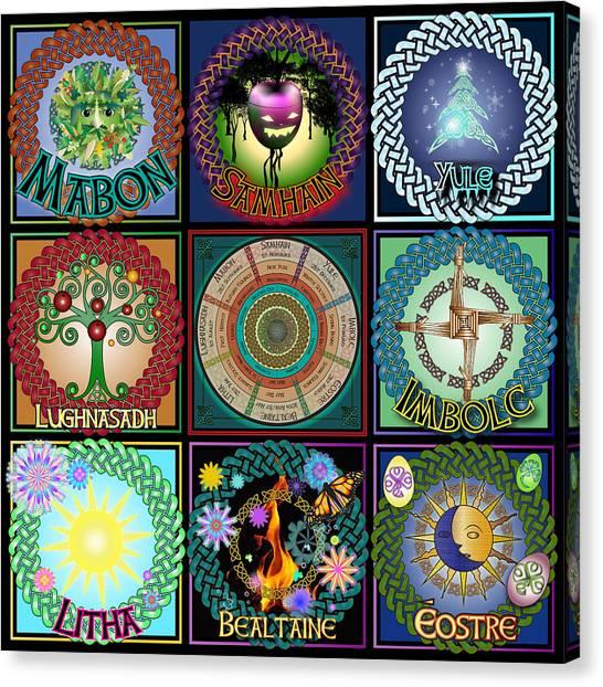 Celtic Festivals Calendar Canvas Print