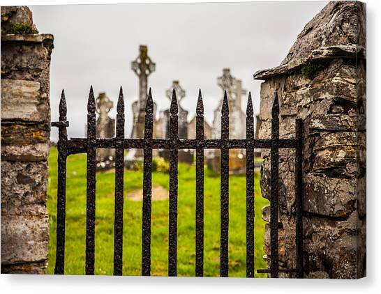 Celtic Graveyard Canvas Print by Craig Brown