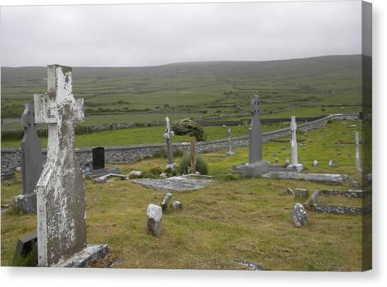 Celtic Graveyard Canvas Print