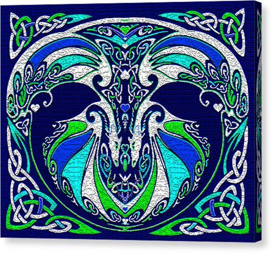 Celtic Love Dragons Canvas Print