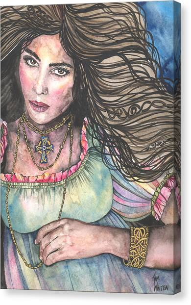 Celtic Queen Canvas Print by Kim Sutherland Whitton