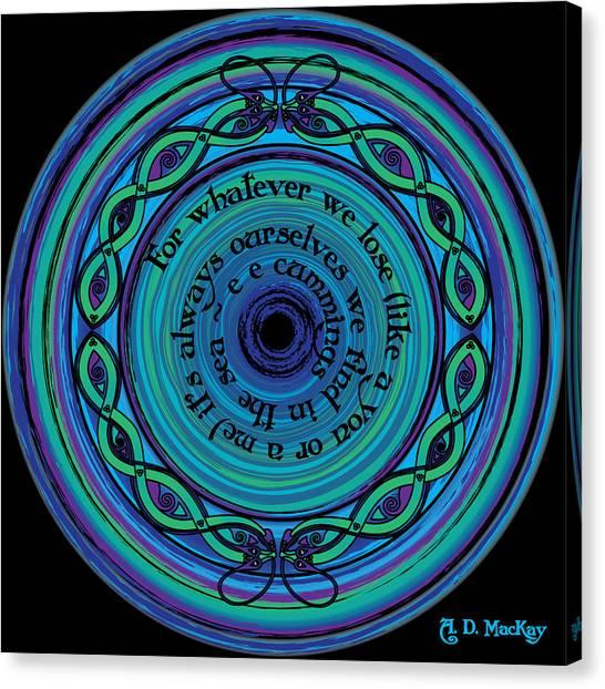Celtic Sea Serpents Canvas Print