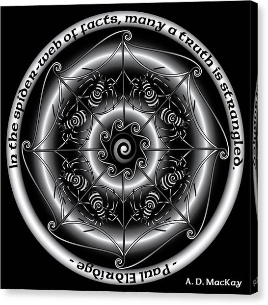 Celtic Spider Mandala Canvas Print