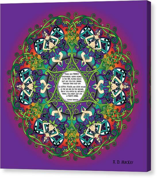 Celtic Spring Fairy Mandala Canvas Print