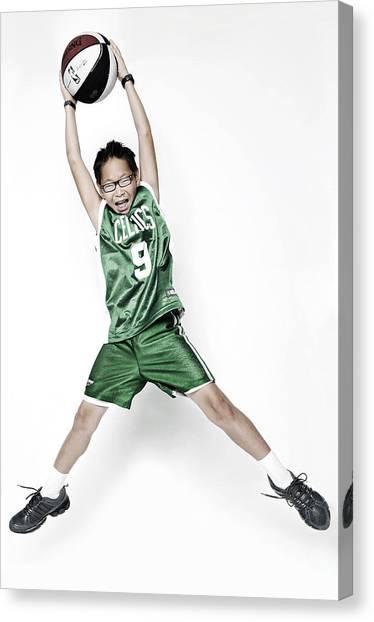 Celtics Fan Canvas Print by Tolga Kavut