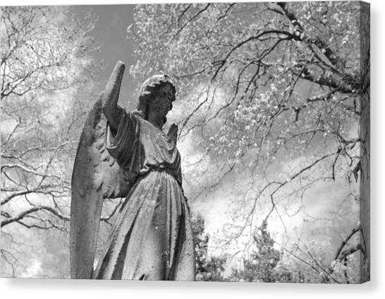 Archangel Canvas Print - Cemetery Angel by Jennifer Ancker