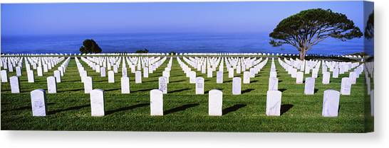 Fort Rosecrans National Cemetery Canvas Print - Cemetery At Waterfront, Fort Rosecrans by Panoramic Images