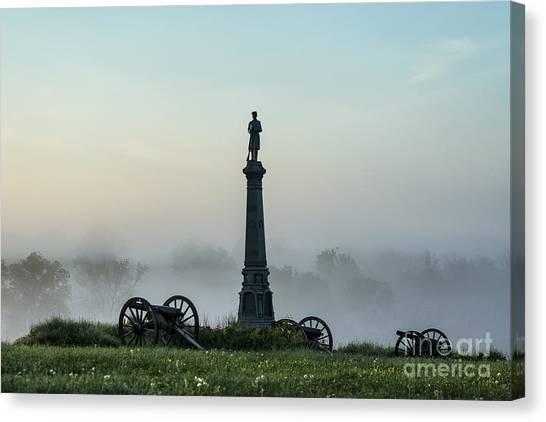 Volunteer Infantry Canvas Print - Cemetery Hill Gettysburg  by John Greim