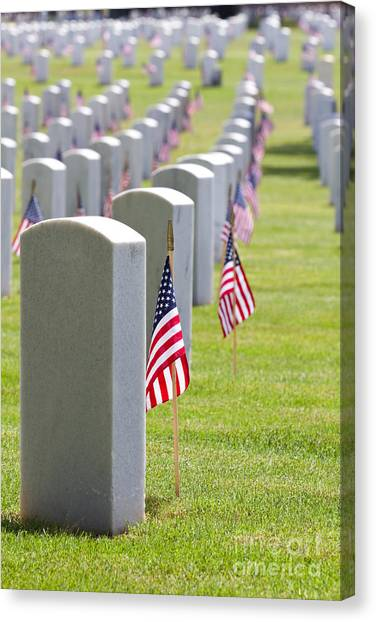 Cemetery Memorial Day Canvas Print