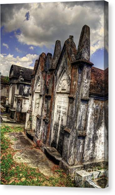 Cemetery Tomb New Orleans Canvas Print