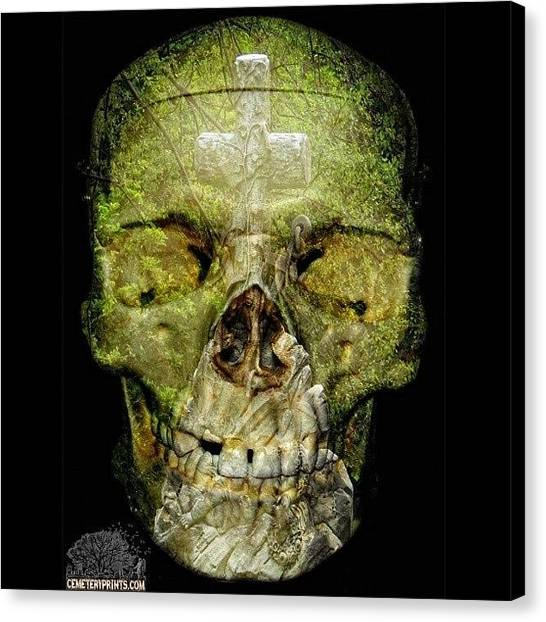 Hell Canvas Print - #cemeteryprints And #skullasylum A by Sid Graves