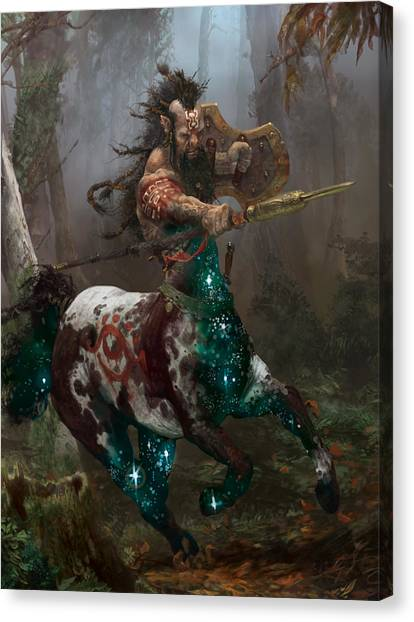 Centaurs Canvas Print - Centaur Token by Ryan Barger