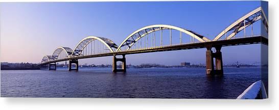 Interstates Canvas Print - Centennial Bridge, Iowa, Illinois, Usa by Panoramic Images