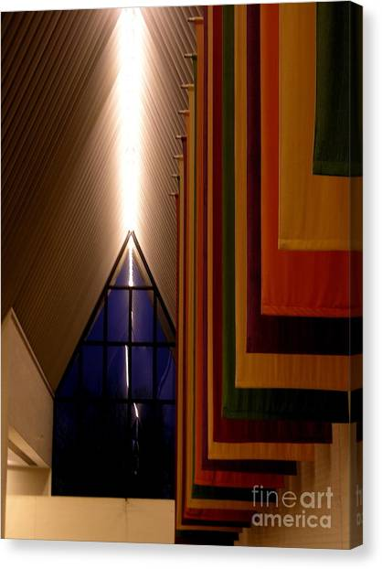 Center For The Arts - Muhlenberg College Canvas Print by Jacqueline M Lewis