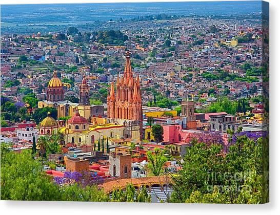 Center Of San Miguel De Allende Canvas Print