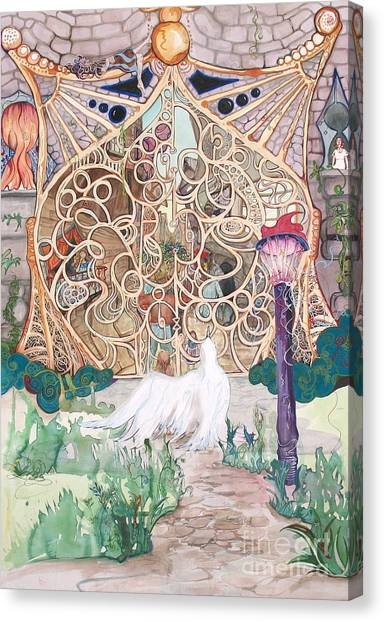 Center Of The World Canvas Print by Maya Simonson