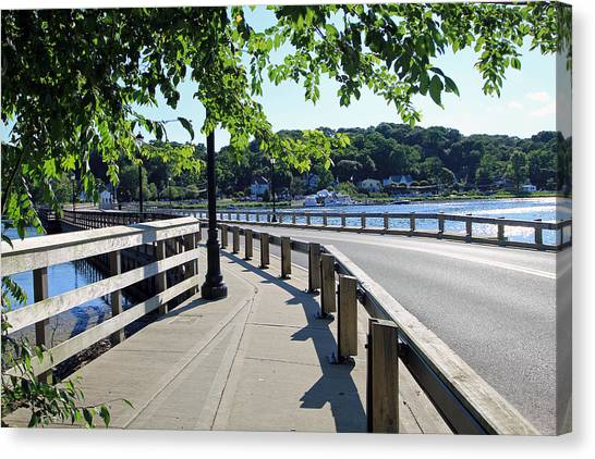 Centerport Bridge Long Island New York Canvas Print