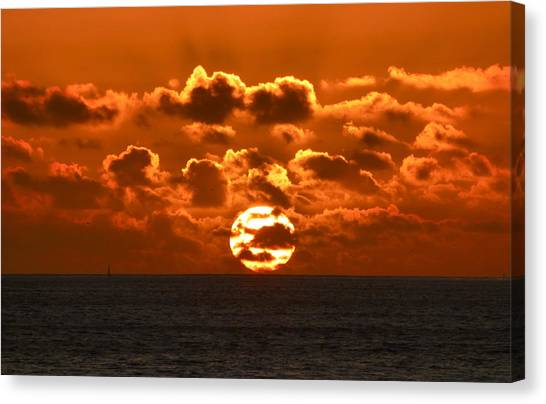 Central Coast Sunset Canvas Print