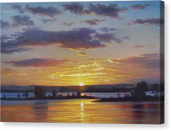 Lake Sunsets Canvas Print - Central Coast Sunset by Graham Gercken