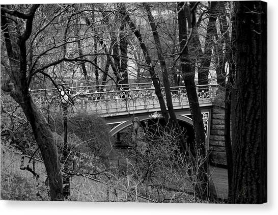 Central Park 2 Black And White Canvas Print