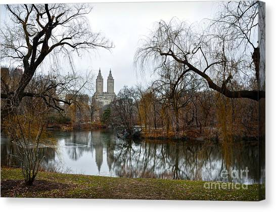 Central Park And San Remo Building In The Background Canvas Print